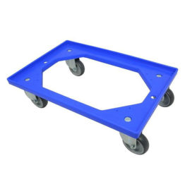 Dolly Krattenwagen 604x410x23mm Blauw