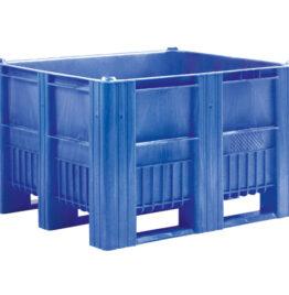 Palletbox 1200x1000x740mm 3 Sleden Gesloten
