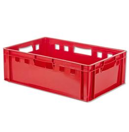 Vleeskrat 600 x 400 x 200 mm in de kleur rood | Bestel nu bij Kratonline