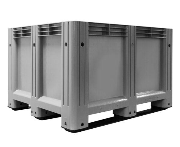 kratonline 1200 x 1000 x 760 mm palletbox grijs onderkant