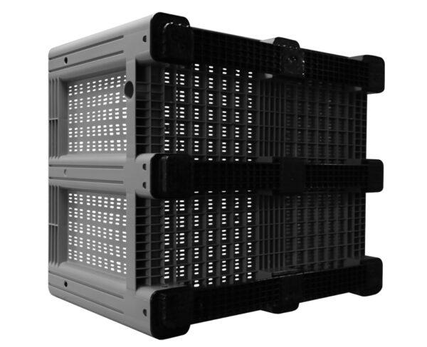 kratonline 1200x1000x760 palletbox grijs geperforeerd onderkant